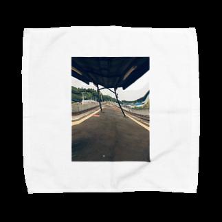 密室の駅のホーム Towel handkerchiefs