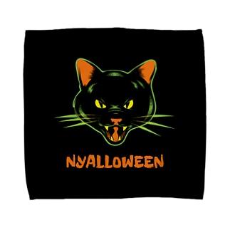 gemgemshopのニャロウィン Towel handkerchiefs