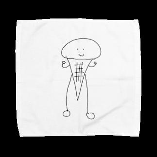 だいまろのソフトクリームマン Towel handkerchiefs