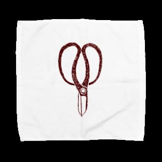 NIKORASU GOの植木職人専用デザイン「植木屋鋏」 Towel handkerchiefs