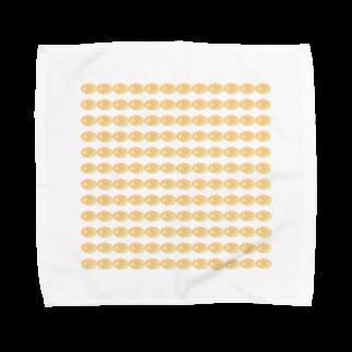水草のハイパーオレンジ玉 Towel handkerchiefs