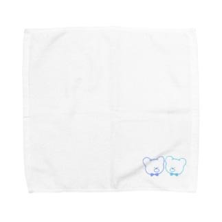 みぎうえ焼きうどんのくまさん Towel handkerchiefs