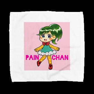 pain_chanのパインちゃん(ピンク) Towel handkerchiefs