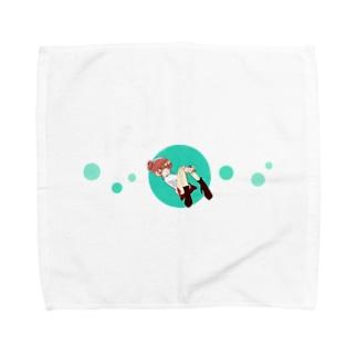 珈琲と女の子 Towel handkerchiefs