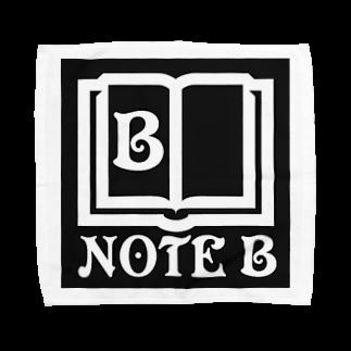 NOTE Bのblack logo Towel handkerchiefs