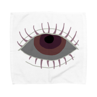 edamiのlonely eye Towel handkerchiefs