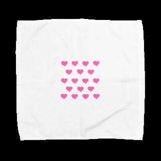 mero46のハート Towel handkerchiefs