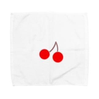 さくらんぼ Towel handkerchiefs