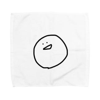 だ、が書いたまるの顔。 Towel handkerchiefs