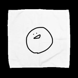 『だ』のだ、が書いたまるの顔。 Towel handkerchiefs