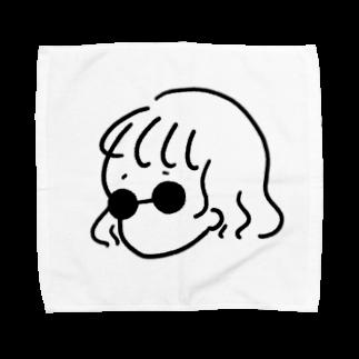 おみずのサングラスがーる(タオルハンカチ) Towel handkerchiefs