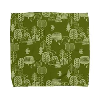 森とトリA Towel handkerchiefs
