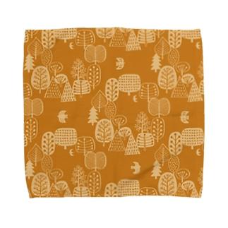 森とトリB Towel handkerchiefs