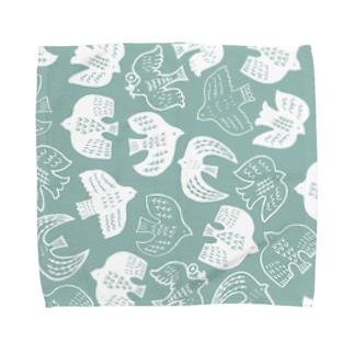 はばたくトリたちB Towel handkerchiefs