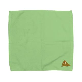 セイウチのタオルハンカチ Towel handkerchiefs