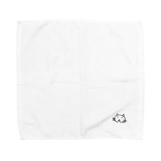 虚無顔のねこ Towel handkerchiefs