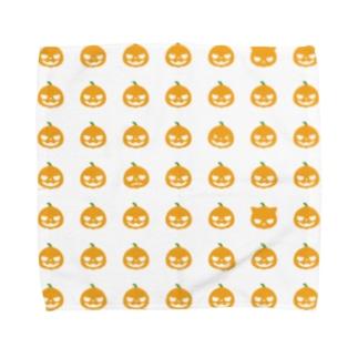 ハロウィンランタングッズ(オレンジ) Towel handkerchiefs