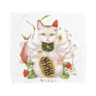 まねき猫 Towel handkerchiefs