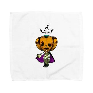 ハロウィンのかぼちゃくん。 Towel handkerchiefs