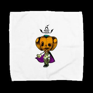 烏丸斗樹のハロウィンのかぼちゃくん。 Towel handkerchiefs