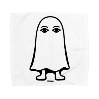エジプトの神様★メジェドさま★仁王立ち-モノクロ Towel handkerchiefs