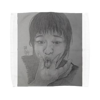 天神変顔  ひよこ Towel handkerchiefs