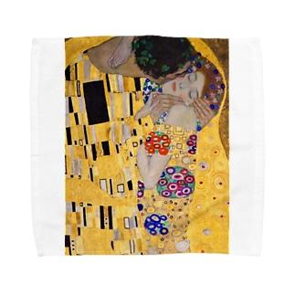 グスタフ・クリムト『 接吻(The Kiss) 』3 Towel handkerchiefs