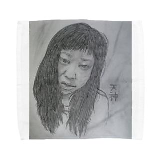 天神髪ボサ Towel handkerchiefs