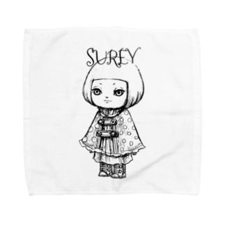 ポンチョを着た女の子 Towel handkerchiefs
