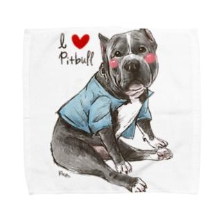 I love pitbull❤︎ Towel handkerchiefs