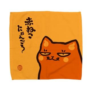 赤ねこハンカチ Towel handkerchiefs