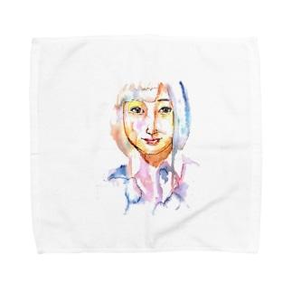 シシカバぐっずの女子高生 Towel handkerchiefs