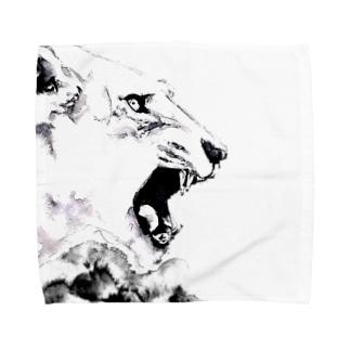 シシカバぐっずの虎 Towel handkerchiefs