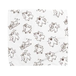 真顔のダンシングぬこ Towel handkerchiefs