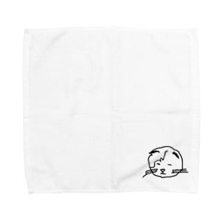 眠い顔のにゃーちゃん Towel handkerchiefs