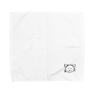 ゆるいにゃんこ Towel handkerchiefs
