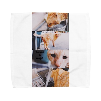 【Incomplete is beautiful】SHIMA Tシャツ Towel handkerchiefs
