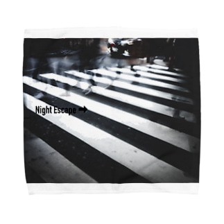 【Night Escape】monochrome Towel handkerchiefs