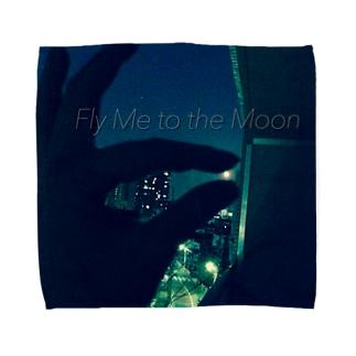FLY ME TO THE MOON Towel handkerchiefs