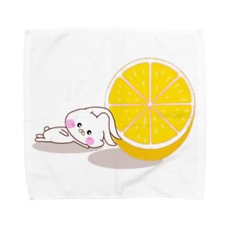 ふにゃうさころとオレンジ Towel handkerchiefs