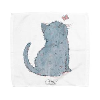 うしろネコさん Towel handkerchiefs