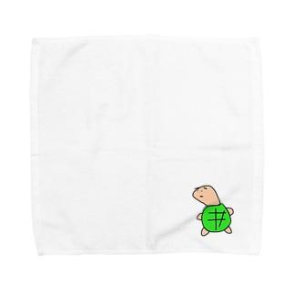 ゼニガメのゼニ Towel handkerchiefs