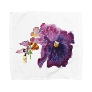 ムラサキ・パンジー Towel handkerchiefs