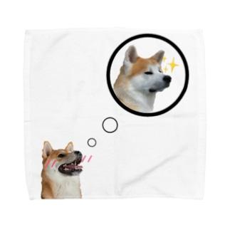 もも君大好きだよ! Towel handkerchiefs