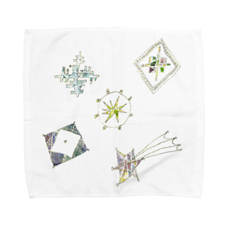 砂まみれの宵の空に輝く星のブローチ Towel handkerchiefs