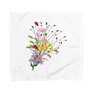 野の花 秋 Towel handkerchiefs