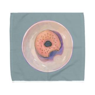 イチゴ味ドーナツ Towel handkerchiefs