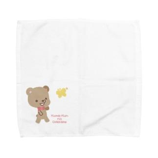 くまくんとちょうちょさん【あかえほ公式】 Towel handkerchiefs
