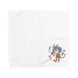 ハロウィン猫耳少年 Towel handkerchiefs