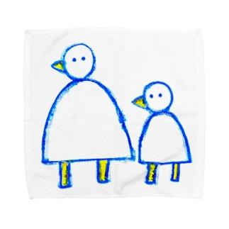 大きなとり小さなとり Towel handkerchiefs